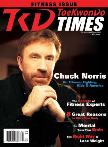 May 2008 Cover - Chuck Norris. In this photo: