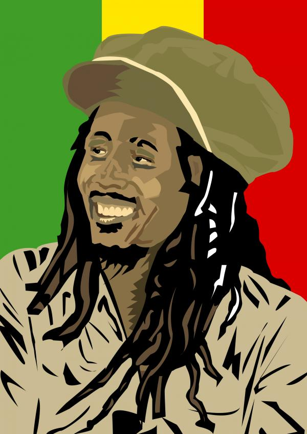 Bob Marley in Art Re-vamp by 
