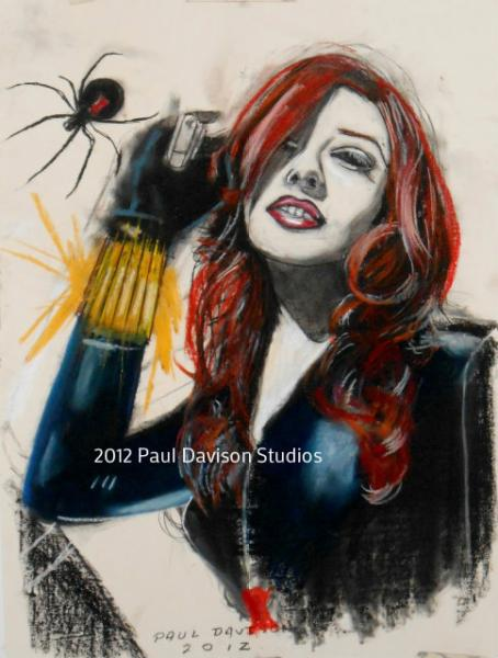 Paul Davison's Myspace Photos: The Black Widow,charcoal