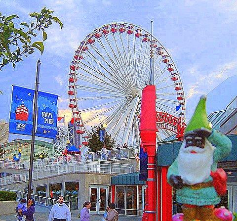 Navy Pier, Lookin fo Beer    My Favorite Black Gnome