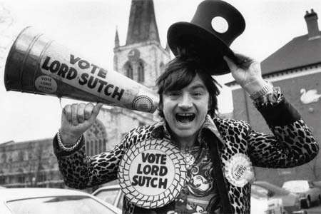 Screaming Lord Sutch in his political garb