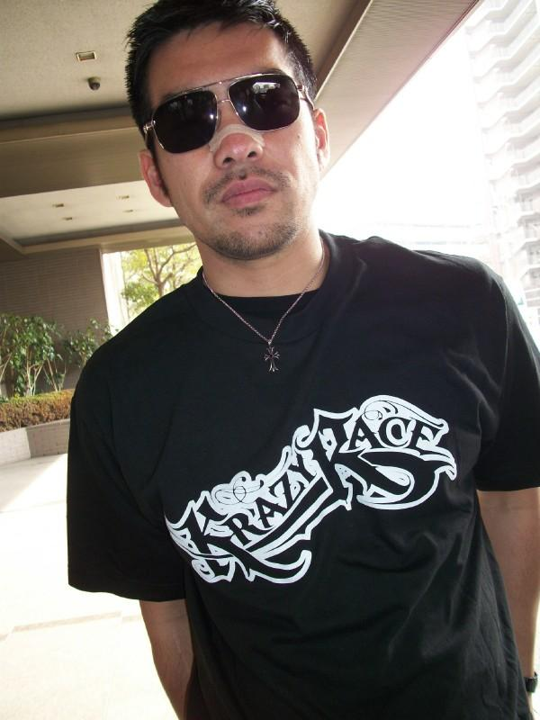 Takeshi Rocking the KR logo in Japan in KR CLOTHING by 