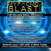 Current Eblast Special ENDS TODAY!! Schedule your  2 For 1 - EBlast 40$6041 in Advance!! Promoting music  products? Would you like to