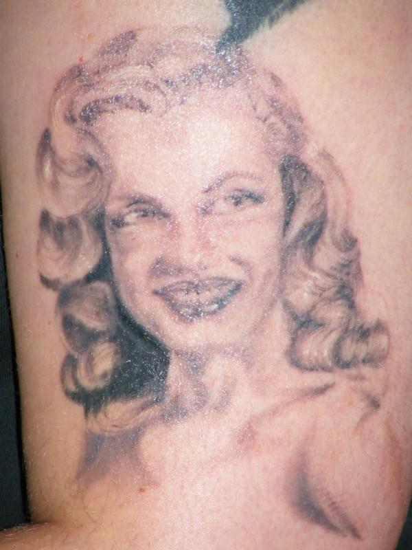 My young Marilyn Monroe tattoo September 2009 in 2009 by Mellanie Holloway