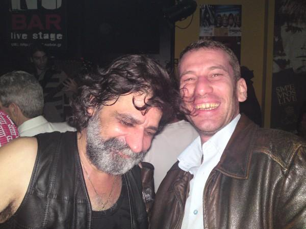 Michael at ''NO BAR'' live stage with Dimitris, a good friend  . Thessaloniki, Greece in or create a new album by