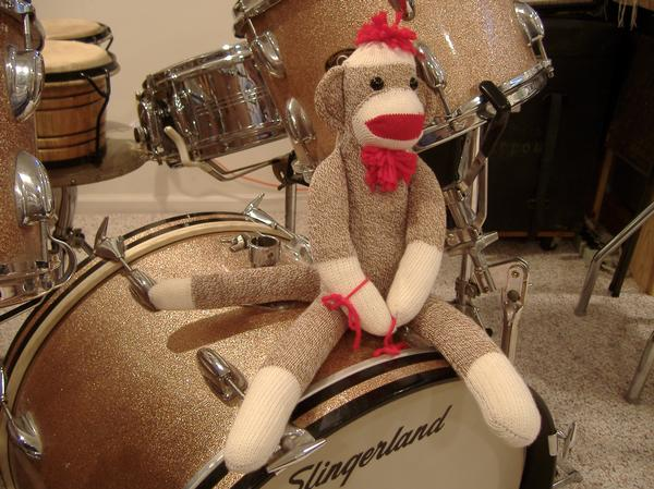 To go with my champagne drums... my champagne monkey.