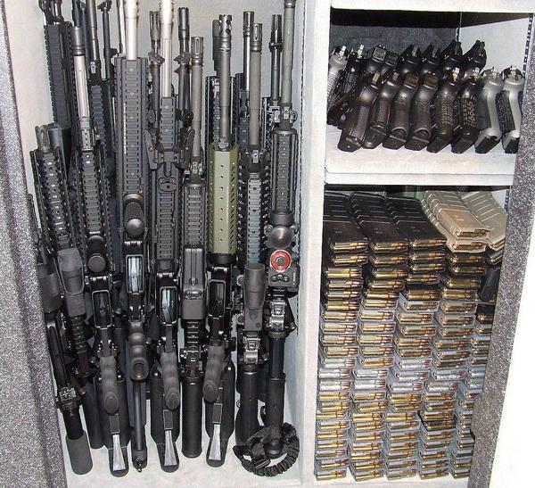 Gun safe and ammo